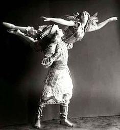 Tamara Karsavina and Vaslav Nijinsky in Firebird
