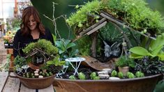 Shade Fairy Garden w/ DIY Living Moss Roof! 🧚🌿💚 // Garden Answer - YouTube Garden Inspiration, Garden Ideas, Backyard Makeover, Garden Club, Yard Landscaping, Amazing Gardens, Container Gardening, Garden Design, Fairy Gardens