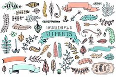 Check out 56 Doodle Decoration Elements by Favete Art on Creative Market