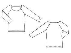 Пуловер, Burda plus 2012/1