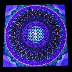 This crazy handdrawn uv mandala is soon finished! Just slight update on the background left. Done with promarkers on paper. (Photo taken in blacklight)  If you want me to make you something like this, check out mariquesart.com and request a custom order in the shop section!