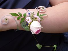 Wrist corsage ideal for bridesmaids or school prom