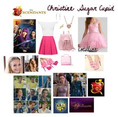 """""""Christine Sugar Cupid // Descendants"""" by leslie-seavey ❤ liked on Polyvore featuring WearAll, Alice + Olivia, Givenchy, Betsey Johnson, Bling Jewelry and Disney"""
