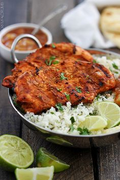 Grilled Tandoori Chicken - must do this with Chicken or Turkey Thighs, Chicken Breasts are so uninteresting and tend to be dry.