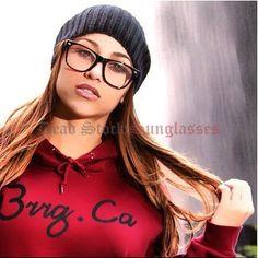 """""""Womens Wayfarer Eye Glasses"""" clear lens faux reading glasses nerd geek optical #DeadStock #Designer"""