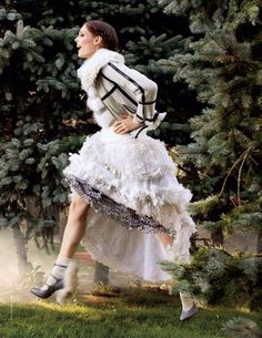 "Coco Rocha in ""One More Coco"" by Arthur Elgort for Tatler Russia"