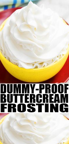 Classic, quick and easy American buttercream frosting recipe, requiring 4 ingredients. It holds its shape. Great for cake decorating and cupcake decorating! American Buttercream Frosting Recipe, Best Frosting Recipe, Homemade Frosting Recipes, Easy Icing Recipe, Vanilla Frosting Recipes, Homemade Cakes, Buttercream Frosting Recipe For Cake Decorating, Easy Frosting For Cupcakes, Great American Cookie Icing Recipe