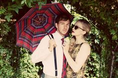 Mad About Plaid Concept Shoot for Most Everything Vintage, Vancouver WA Model: Eric Gore and Brittney Hancock MUAH: Ashley Rauch/Ashley Cheri Stylist Photography: May Faith Photography