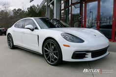 Porsche Panamera with Vossen Wheels exclusively from Butler Tires and Wheels in Atlanta, GA - Image Number 10809 Pirelli Tires, Tyre Brands, Porsche Models, Porsche Panamera, My Ride, Luxury Life, Butler, Cars And Motorcycles, Dream Cars