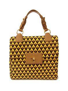 6549086f45530 PRADA PATTINA bag TESSUTO JACQUARD in Ginestra Diamond BN2368