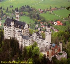 Neuschwanstein Castle, Above the village of Hohenschwangau, Bavaria, Germany. - www.castlesandmanorhouses.com