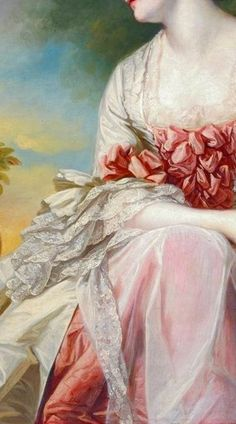 Art, beautiful details .. X ღɱɧღ    The Rose Girl' (detail) Émile Vernon (1872-1919)
