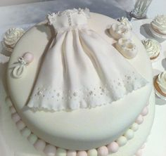 Wow! Baptism dress cake.  So cute for a baptism or first communion!