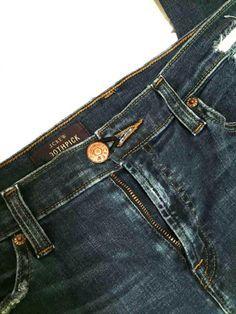 лайфхаки для девушек  При помощи обычной резинки для волос можно застегнуть слишком узкие в талии джинсы!