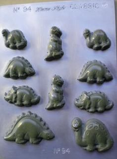 Dinosaur Chocolate Mould - Make chocolate dinosaurs from this fantastic mould from the NZ made range. Great for boys, school holidays. Kids love chocolate.
