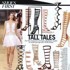 "@marieclaire ""For the romantic warrior - gladiator styles to make you go chic in the knees"" try Nasty Gal Knee-High Advantage Gladiator Heel"