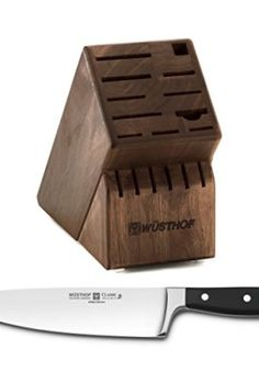 Wusthof-Walnut-17-Slot-Knife-Block-with-Classic-High-Carbon-Stainless-Steel-8-Inch-Cooks-Knife-0
