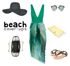 """Beach Covers Up"" by sebolita ❤ liked on Polyvore featuring I.D. SARRIERI, Accessorize, Christian Dior, Topshop, Ashley Stewart, Kate Spade and Linum Home Textiles"