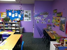 Science center in my 3rd grade rock star theme classroom