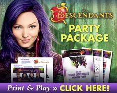 Disney Descendants Party Package printables SKGaleana