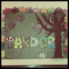 mural de tardor. autumn