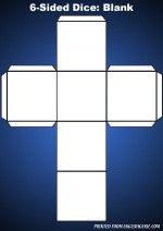 Six sided dice blank