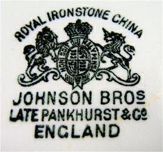 Date johnson bros china