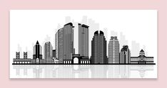 Take a look at the store http://thousandface.myshopify.com/products/sacramento-canvas-silhouette-skyline-black-white-wall-art-picture-home-decor?utm_campaign=social_autopilot&utm_source=pin&utm_medium=pin