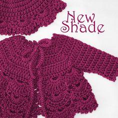 Crochet Toddler Cardigan | Crochet baby sweater in a soft wool blend yarn…