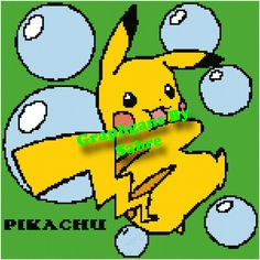 Pikachu Bubbles Crochet Graph Pattern by GraphgansBySabre on Etsy  https://www.etsy.com/shop/GraphgansBySabre?ref=l2-shopheader-name