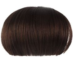niceeshop(TM) Sweet Girl Natural Bob Wig Clip in Hair Extensions Straight Bangs Fringe,Dark Brown ** Click here for more details @