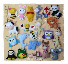 Felt keychain Craft keychain Handmade keychain by feltcutemobile Handmade Felt, Felt Diy, Felt Crafts, Felt Patterns, Stuffed Toys Patterns, Baby Toys, Kids Toys, Felt Keychain, Keychains