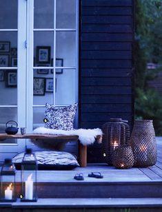 Terrasse inspiration - 20 skønne eksempler her Outdoor Rooms, Outdoor Gardens, Outdoor Living, Outdoor Decor, House Doctor, Interior Exterior, Exterior Design, Outside Living, Pergola