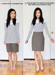 ExtraPetite.com - Summertime Business Casual Work Outfit