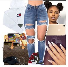 Look at other great ideas about Fashion outfits, Swag attire and Woman style. Swag Outfits For Girls, Cute Swag Outfits, Cute Outfits For School, Teen Fashion Outfits, Teenager Outfits, Dope Outfits, Trendy Outfits, Girl Outfits, Summer Outfits