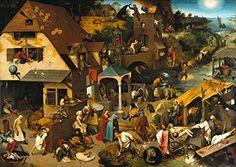 Pieter Bruegel the Elder: Netherlandish Proverbs. Fine Art Print/Poster. Size A4 (29.7cm x 21cm) $1.01