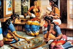 Minoan women fashion looks much more complex than the fashion of classical Greece. They wore robes that were open to the navel and had short sleeves and layered flounced skirts. The patterns on clothes emphasized symmetrical geometric designs. Minoan women also had the option of wearing a strapless fitted bodice, probably the first fitted garment known in history.