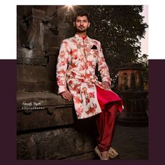 #groominspiration We are in love with this trend setting floral #sherwani Are you too?? Tag your #groomtobe friends and help them go light on their pockets.  Visit www.rentanattire.com or download the App.  For more information, contact us at 7722036477.  #raa #rentanattire #fashiononrent #fashionrental #designerwearonrent #groomtobe #groomsofindia #groomsofinstagram #groomoutfit #sherwani #sherwaniswag #sherwanistyle #sherwanionrent #rentals #weddingbells #weddingz #weddingnama #wedmegood