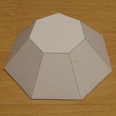Tons of Geometric paper origami shapes Paper model truncated heptagonal pyramid Prisma Hexagonal, Origami Geometric Shapes, Diy Crafts Tools, Origami Paper Art, Cement Crafts, Concrete Art, Stained Glass Patterns, Hexagon Shape, Paper Models