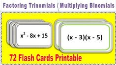 Algebra symbols chart poster pinterest algebra symbols and chart factoring trinomials and multiplying binomial flashcards fandeluxe Images