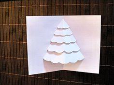 Carte Sapin de Noël en 3D en papier