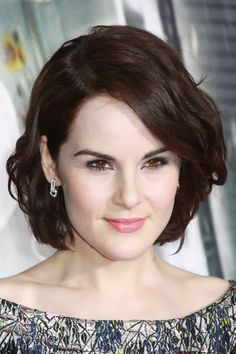 Hollywood Celebrity Hairstyles by Michelle Dockery
