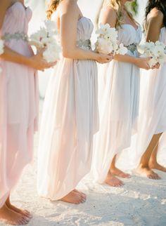pretty pastel bridesmaids