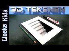 Hoe teken je een 3D Keldertrap / 3D #26 - YouTube
