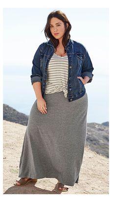 Best fashion spring plus size maxi skirts Ideas Source by Fashion spring skirts Look Plus Size, Plus Size Maxi, Plus Size Jeans, Plus Size Dresses, Plus Size Outfits, Plus Size Long Skirts, Cute Plus Size Clothes, Women's Plus Size Swimwear, Plus Size Bikini
