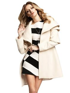 Tiered-Sleeve Coat