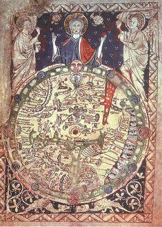 Mappa Mundi 1250 from a Psalter