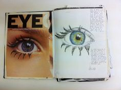 IDEAS - sketchbook art, eye see you // strollingnines Art Journal Pages, Art Journals, Sketch Journal, Sketchbook Inspiration, Sketchbook Ideas, Sketchbook Assignments, Gcse Art Sketchbook, Drawing Exercises, A Level Art