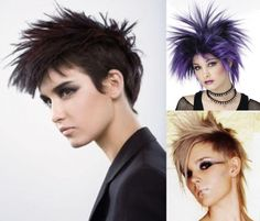 Punk Hair styles and Punk haircuts for Women and Girls