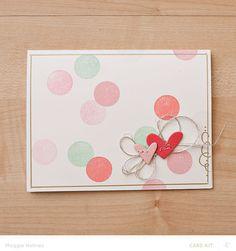 Hearts & Confetti Card by maggie holmes at @studio_calico